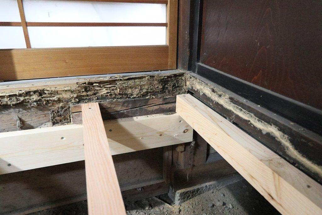 村上市で築100年の古民家床下地交換工事