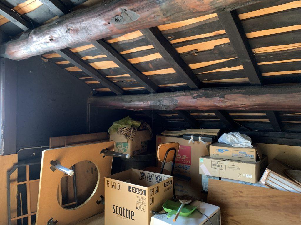 古民家の小屋裏の造り