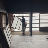 阿賀町古民家移築解体開始